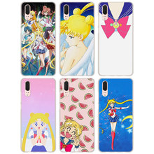 for Huawei P20 Case cartoon Sailor Moon Style clear frame back Cover Case  for Huawei P20 7c52bd3ae9