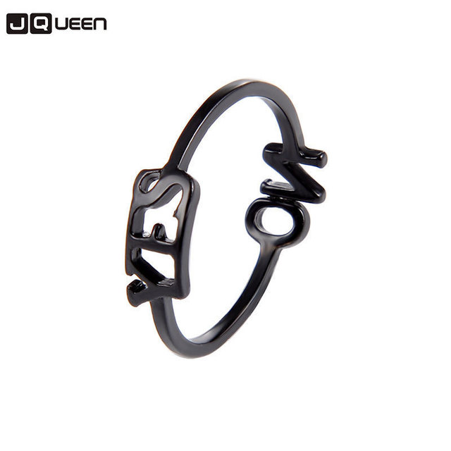 2018 New Popular Yes No English Letter Rings For Girls 2018 Gold