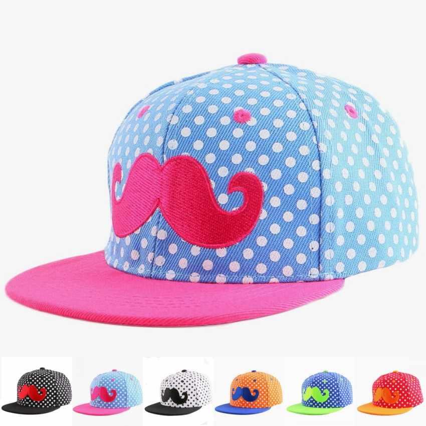 De 3 a 12 años los niños gorra de béisbol hip hop snapback bordado Diseño de e4e3571169f