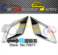 Fog lamps cover plating cover fog lamps imported modified For Ssangyong Korando 2014 2015 car styling Auto parts