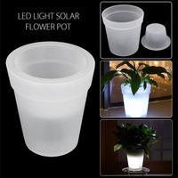 Smuxi светодиодный Soalr свет горит Солнечный Мощность освещение цветочный горшок Пластик кашпо Белый дом, сад, декоративные