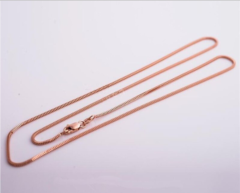 Pure Solid Rose Gold Chain /Perfect Milan Chain Necklace/ 2.75g