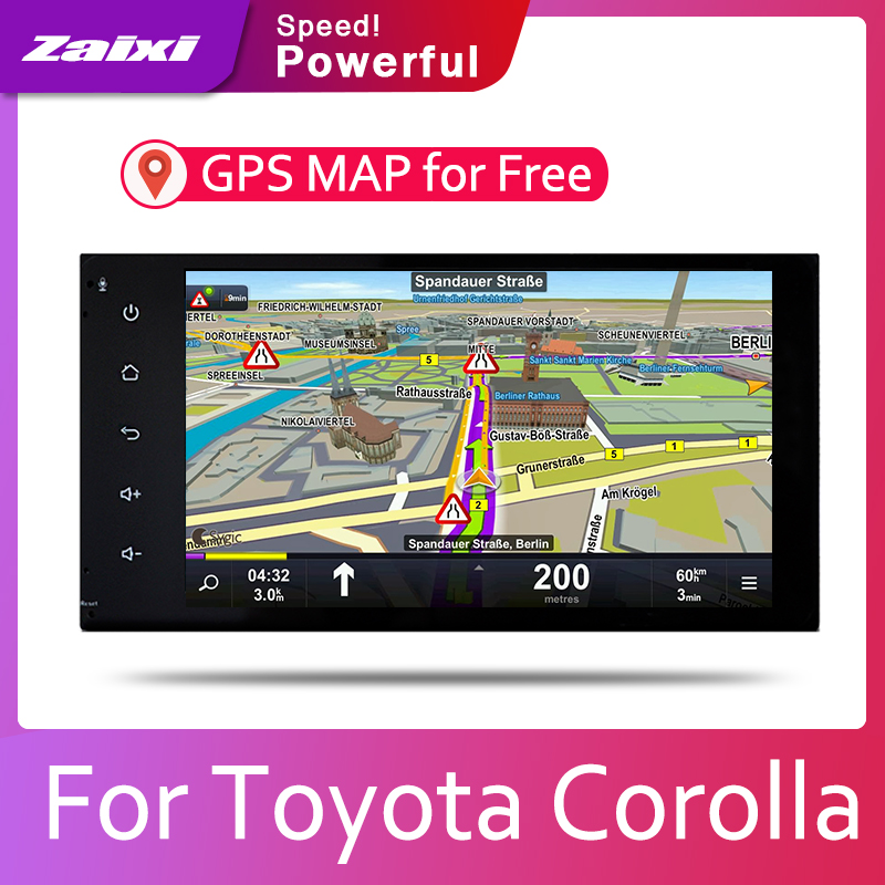 ZaiXi Android 2 Din Car radio Multimedia Video Player auto Stereo GPS MAP For Toyota Corolla 2000 2017 Media Navi Navigation in Car Multimedia Player from Automobiles Motorcycles