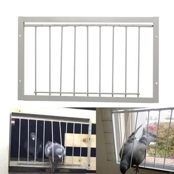 30/40*26cm Pigeon Door Metal Bars Single Entrance Trap 1