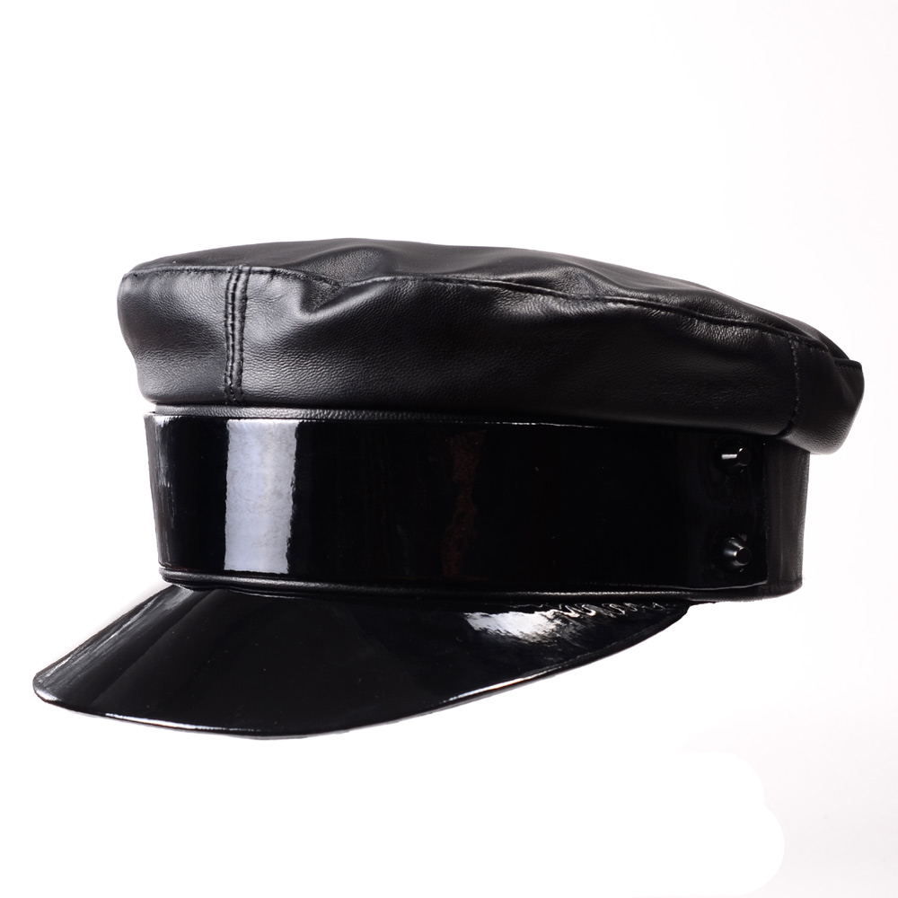 584ef97b1584a8 Detail Feedback Questions about Women Winter European Fashion Twinkle  Patent Leather Beret Hat Teen Student Streetwear Rivets Punk Show Gorro Navy  Caps ...