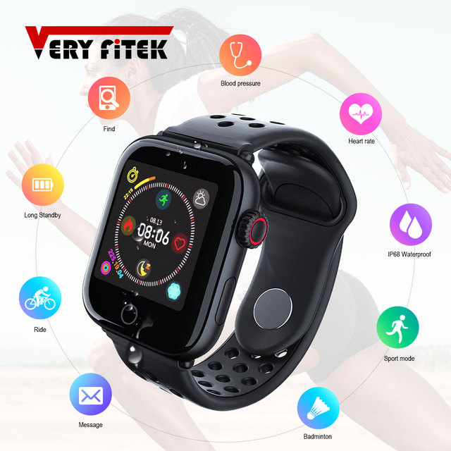VERYFiTEK Z7, Blood Pressure, Heart Rate Monitor, Fitness Smartwatch, for IOS and Android