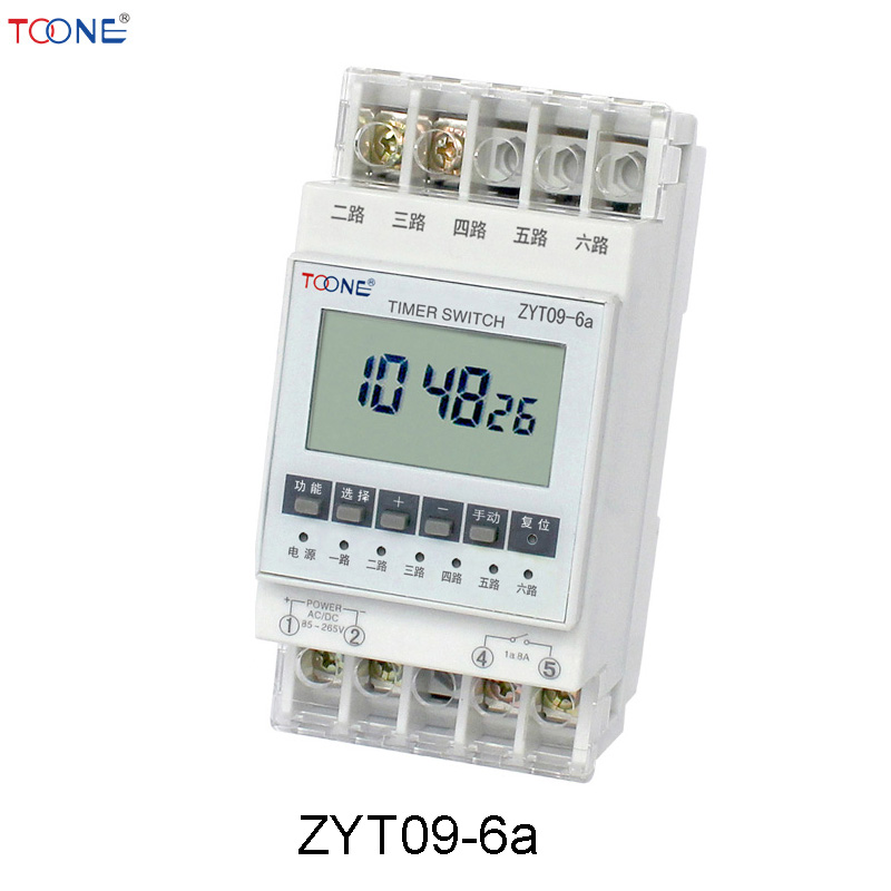 Electronic microcomputer time control switch timer light box time controller ZYT09-6a sinotimer 12v ac dc control power timer 50 hz 24 hours timer switch control high quality time relay electronic instrument