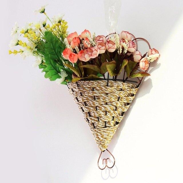 Metal Flower Pot Planter Hanging Basket Garden Flexible Home Indoor  /outdoor Wall Plant Wreath Flower