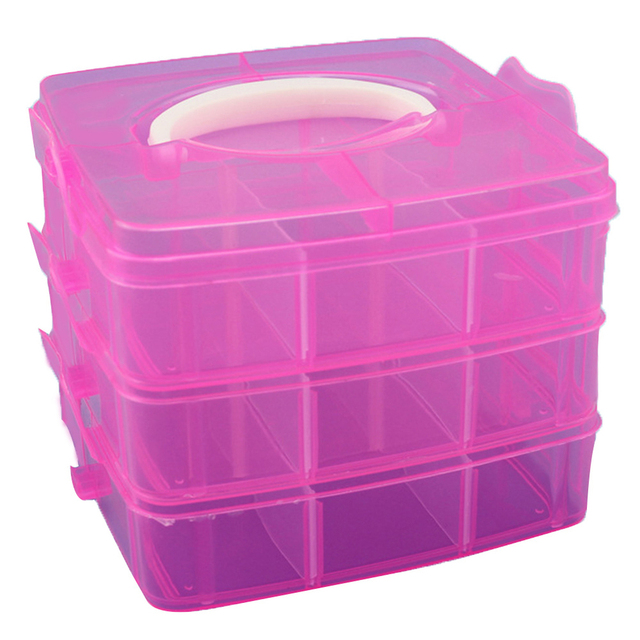 18 Grid Storage Box Multi Use Portable Detachable Transparent