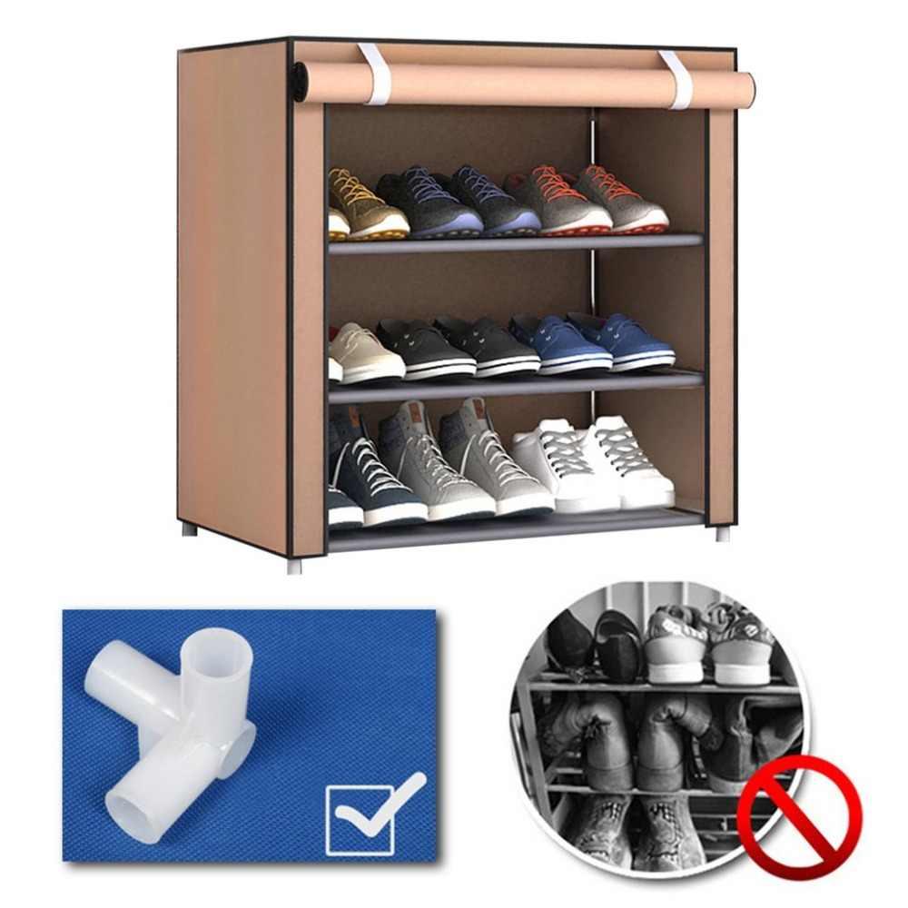 Dustproof Shoe Rack Large Size Shoes Organizer Non Woven Fabric Home Bedroom Shoemaker