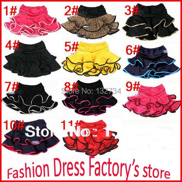 lower price Girls Latin Dance Skirt Ballroom Samba Chacha Dancing Dress inside with shorts Kids Mini Skirt