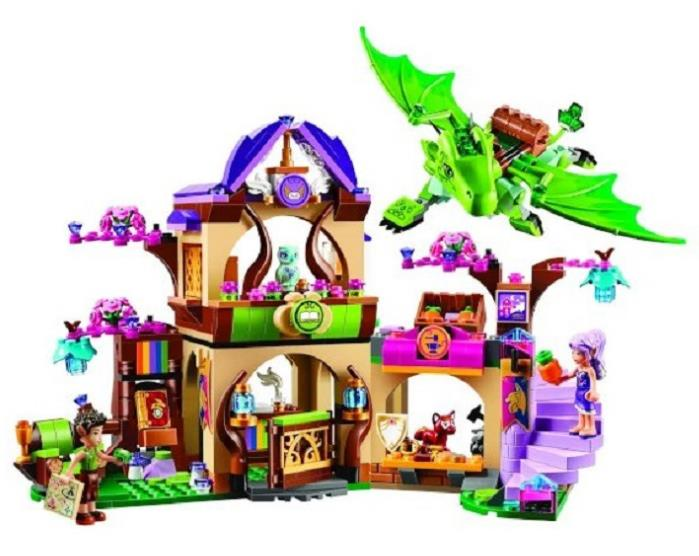 694Pcs 10504 Friend Elves The Secret Market Place Model Building Kit Blocks Girl Toys gift For Children compatible lepin 41176