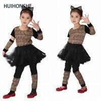 HUIHONSHE Bella Vitalità Della Neonata Vestiti Cosplay Impertinente Piuttosto Leopardo Ragazza Giornata dei bambini di Halloween Carnival Party Dress