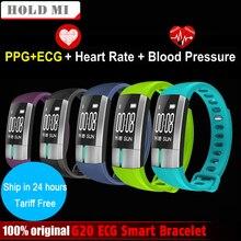 Tenir Mi G20 ECG en temps Réel Entendre Moniteur de Fréquence Intelligent Bracelet Fitness Tracker Activité Sang Pression Bracelet Pulsometro PK ID107