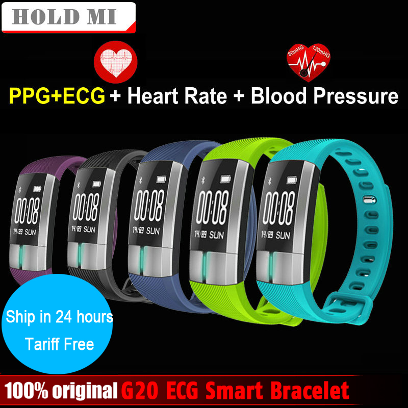 Hold Mi G20 ECG Real-time Hear Rate Monitor Smart Bracelet Fitness Activity Tracker Blood Pressure Wristband Pulsometro PK ID107
