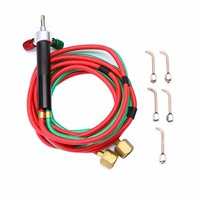 Mayitr Gas Welding Torch Micro Precision Oxygen Butane Welding Torch Acetylene Cutting Kit With 5 Nozzles