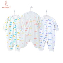 COBROO Unisex-Baby Cotton Rompers with Long-Sleeve Clouds Pattern Baby Boy/Girl One-Piece 0-3-6 Months