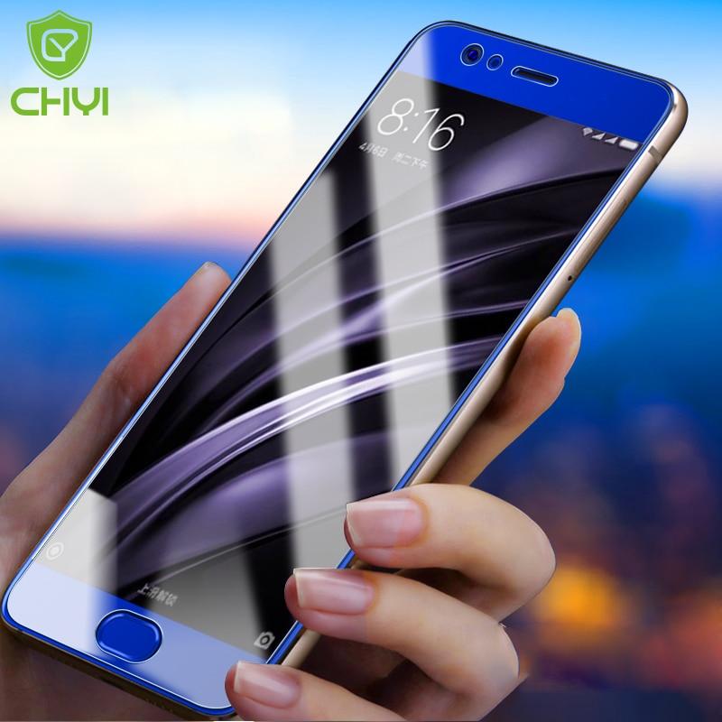 CHYI Full-Screen-Protector Tempered-Glass Mi5c 5s-Plus Blue Xiaomi Mi6 Mi5s For A1 9H
