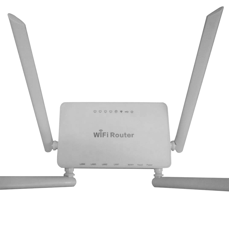 Беспроводной Wi-Fi маршрутизатор WE1626 для 3G модема USB 300 Мбит / с Маршрутизатор Openwrt,4 Wi-Fi маршрутизатором Aatennas Белый цвет Поддержка Wi-Fi устройств...