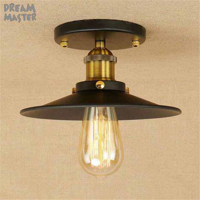 Online shop nordic style black chrome ceiling lights with e27 socket nordic style black chrome ceiling lights with e27 socket adapter iron restaurant balcony study rustic ceiling lighting fixtures mozeypictures Image collections