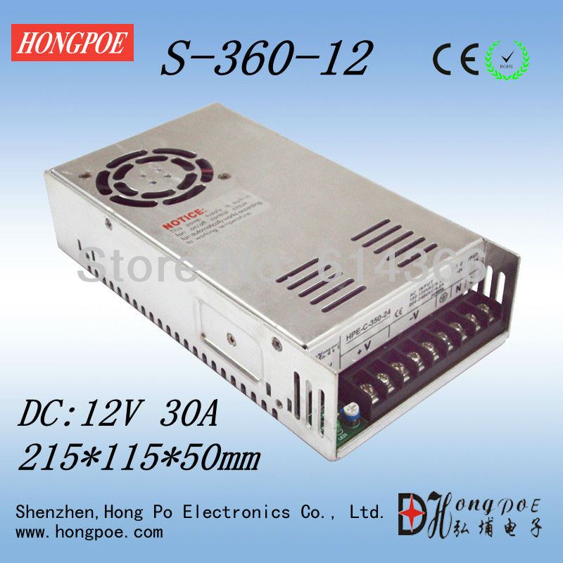 20PCS 360W  Switching Power Supply 12V 30A  100-240VAC DC12V LED CCTV 4pcs 12v 1a cctv system power dc switch power supply adapter for cctv system
