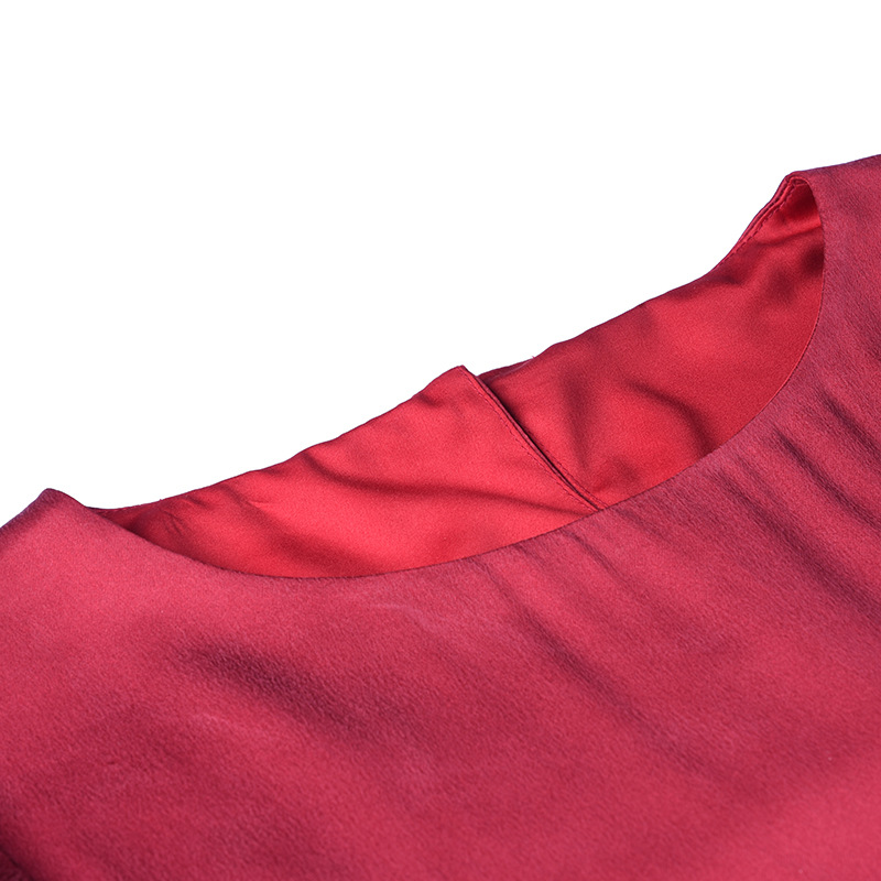 Europe À Bleu L6ht700 Gros Qualité Et Lourde Haute Carburant Vêtements Manches Soie Automne Longues En De Robe Amérique Conduites rouge Femmes LqzVMSpUG