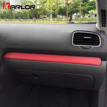 Films de Protection en Fiber de carbone colorés à garnitures chromées, autocollants pour voiture Volkswagen VW Golf 6 MK6, accessoires