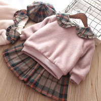 2018 Hot Sale New Baby Dress Vestido Infantil Qiu Dong With Girl Maomao Garment Plaid School Of Western Style Dress Warm Wind