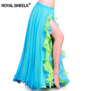 Image 3 - Hot Sale Women Chiffon High quality New bellydancing skirts belly dance costumes Belly dance dress Lotus leaf performance skirt