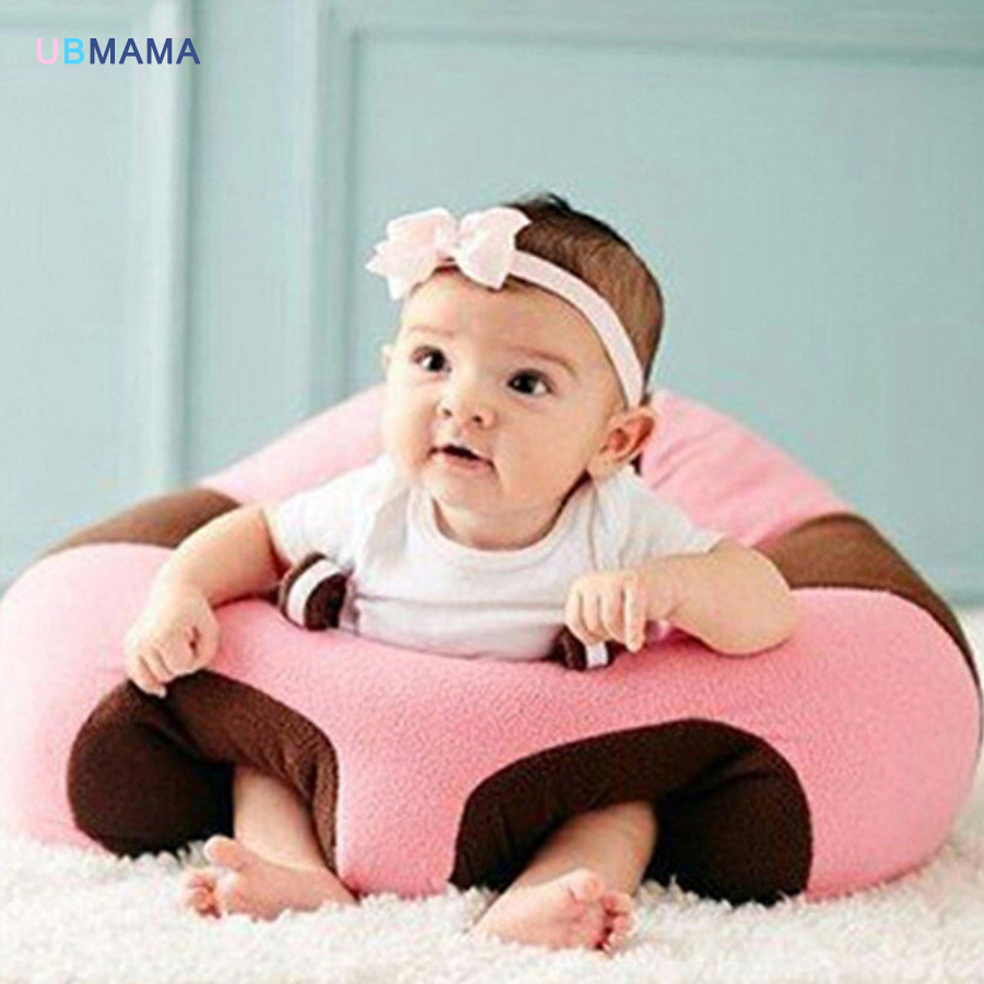 Newborn Baby PP Cotton Chair Seat Infant Babies Dining Lunch Sofa Safety Comfortable Cotton Plush Legs Feeding Portable