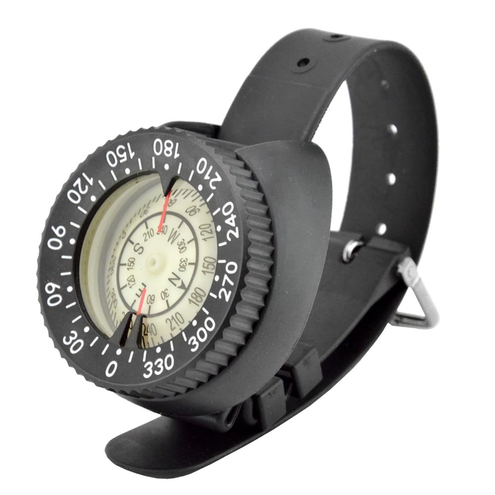 Vente chaude plongée montre-bracelet conception boussole en plastique léger imperméable boussole pour la natation