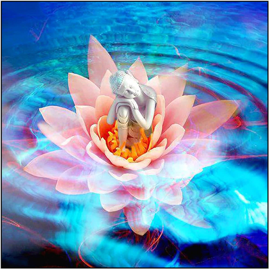 5d diy diamond painting full round square drill buddha lotus flower 5d diy diamond painting full round square drill buddha lotus flower picture mosaic diamond embroidery cross stitch home decor in diamond painting cross izmirmasajfo