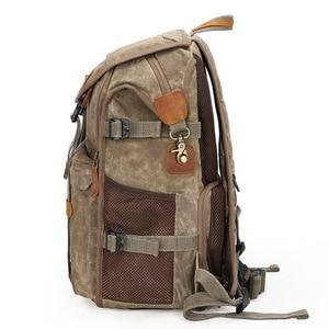 Image 4 - 최신 내셔널 지오그래픽 카메라 가방 바틱 캔버스 카메라 배낭 대용량 방수 사진 가방 카메라 케이스