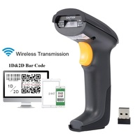 2.4G Wireless Bar Code Barcode Scanner QR Code Data Matrix 1D&2D BarCode Reader Scanner for Supermarkets warehouse store