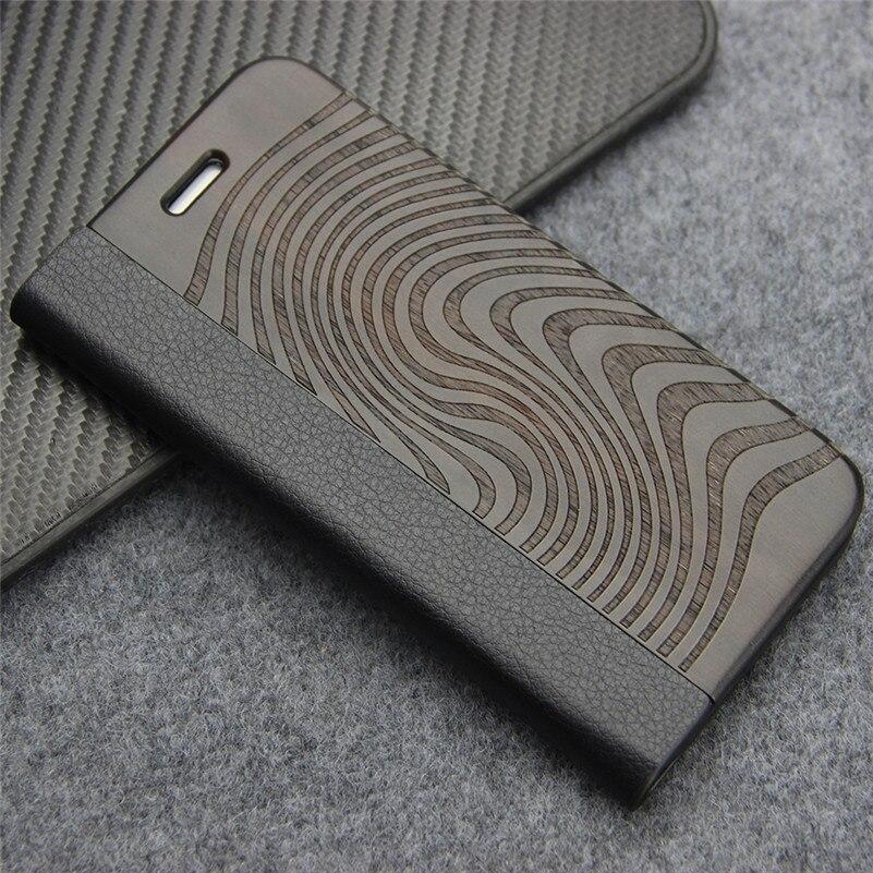 Retro Leder Flip Fall für Samsung Galaxy S8 S7 rand S9 Plus Natürliche Echt Holz Telefon Abdeckung mit Stand für iPhone 7 8 Plus