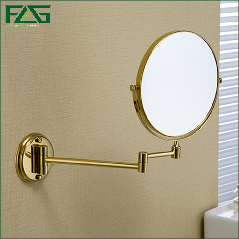 Wall mounted magnifying mirrors for bathrooms - Aliexpress Com Buy Flg Brass Bathroom Magnifying Mirror Chrome Finish 6 8 Inch Wall Mounted Magnifying