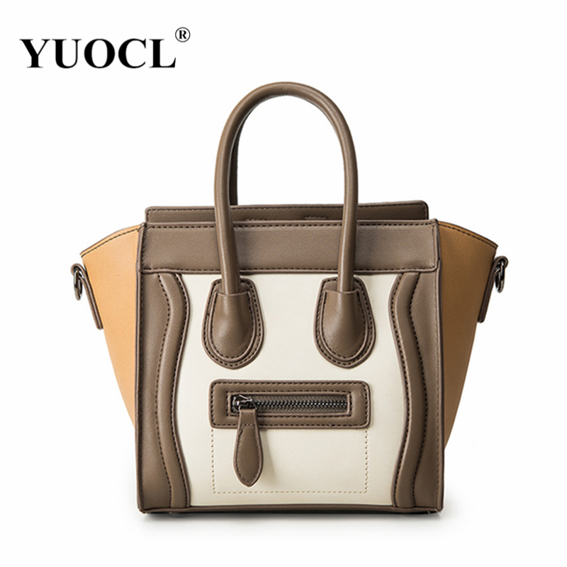 YUOCL shoulder crossbody tote bags for women leather luxury handbags women messenger bags designer famous brands 2017 sac a main 2016 luxury leather women handbags casual tote bags original designer brand bag ladies famous brands messenger bags sac a main