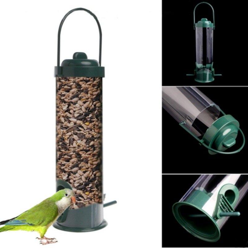 New Plastic Comfort Bird Pet Feeder Waterer Garden Hanging Suction Cup Automatically Bird Feeder Farming Equipment Outdoor