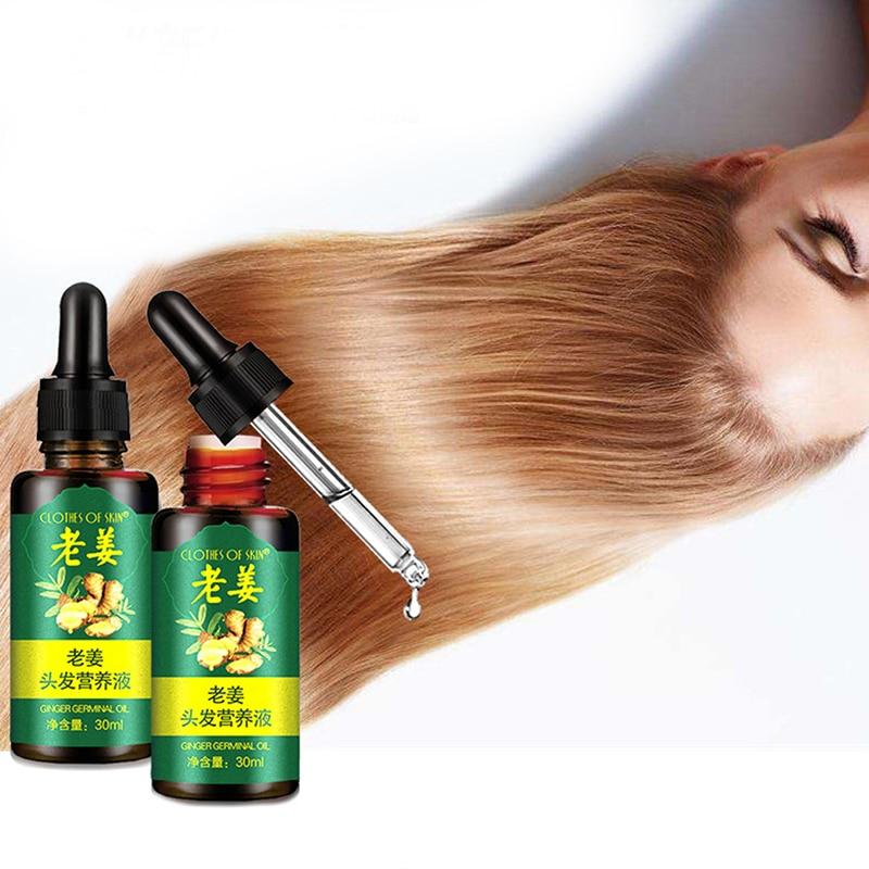Сывороточная эссенция для роста волос имбиря для женщин и мужчин против выпадения волос, жидкость для восстановления поврежденных волос, б...