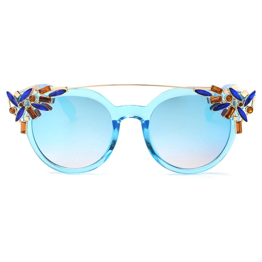 Peekaboo Luxury Fashion Rhinestone Cat Eye Sunglasses Women Designer Transparent Frame Ladies