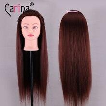 95% Human Hair hairdresser Training Mannequin heads Cutting Styling Dye Practice head plastic female Dummy Head