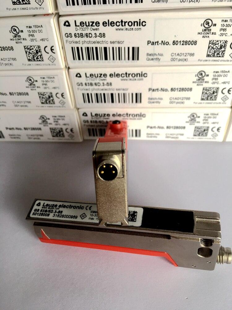 Marque nouveau original Allemand LEUZE fente capteur GS 63B/6D. 3-S8 Article N ° 50128008 Photoélectrique capteur de commutateur photoélectrique