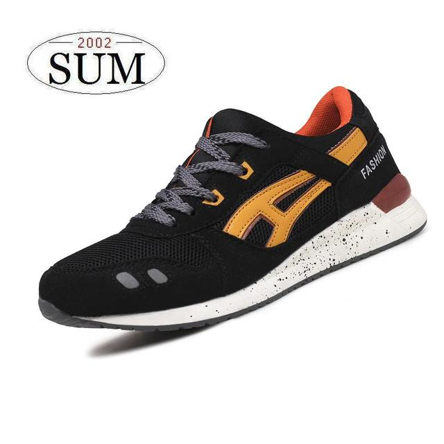 7 colors new arrival men's running shoes lace-up breathable sport shoes male athletic shoes lightweight and non-slip adult shoes