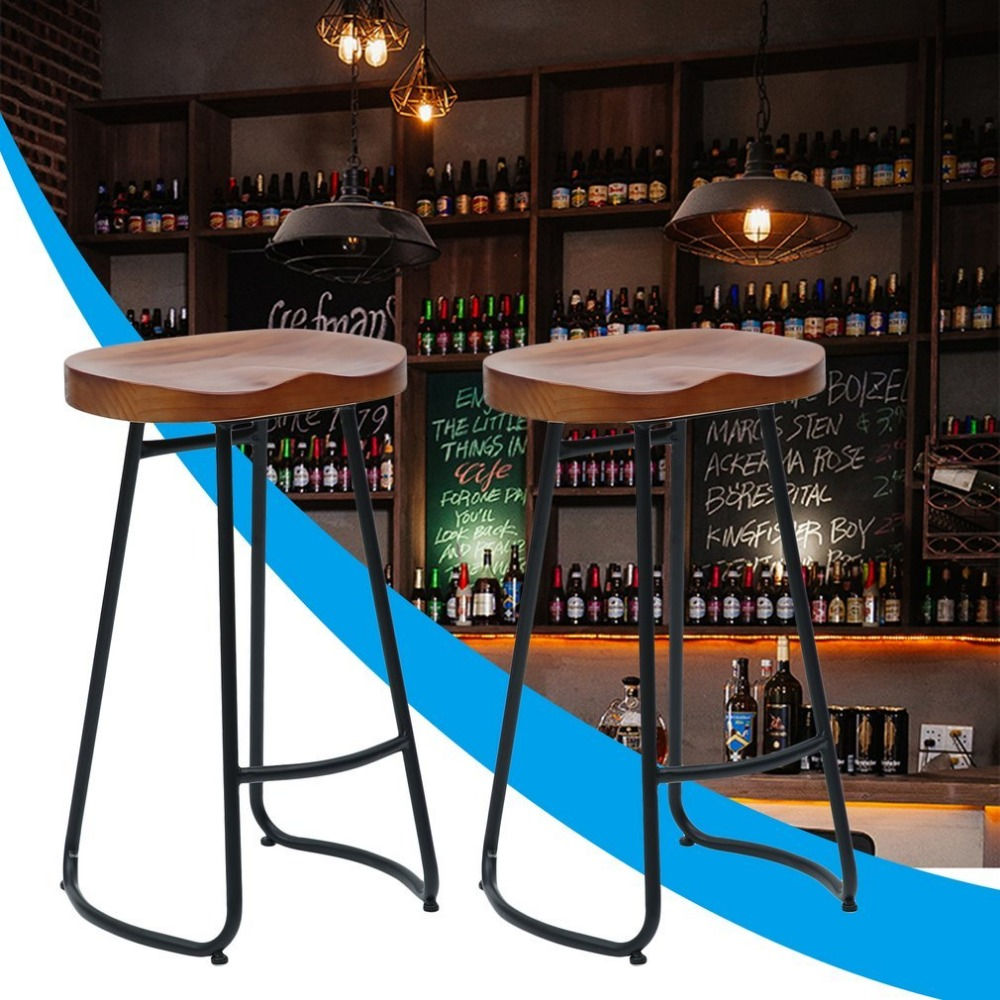 Incredible Newest 70Cm Pub Bar Stool 2 Pcs Backless Barstool Vintage Ocoug Best Dining Table And Chair Ideas Images Ocougorg