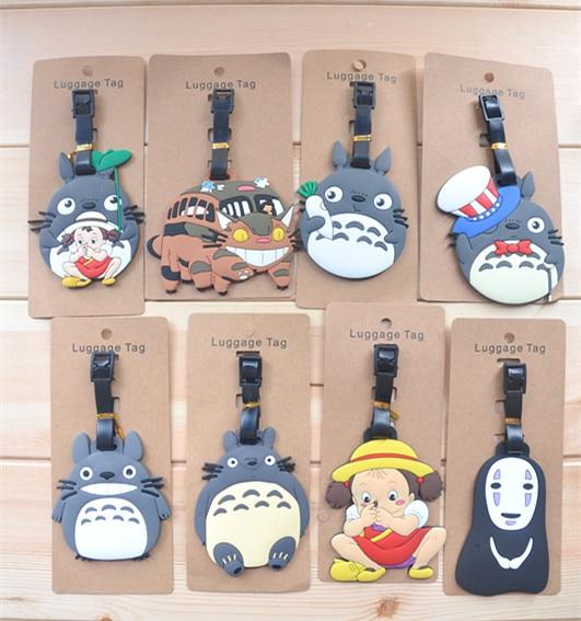 8 Pcs/set Anime Cartoon Miyazaki Hayaov Totoro No Face Man luggage tag pendants hang tags checked brand tourist products