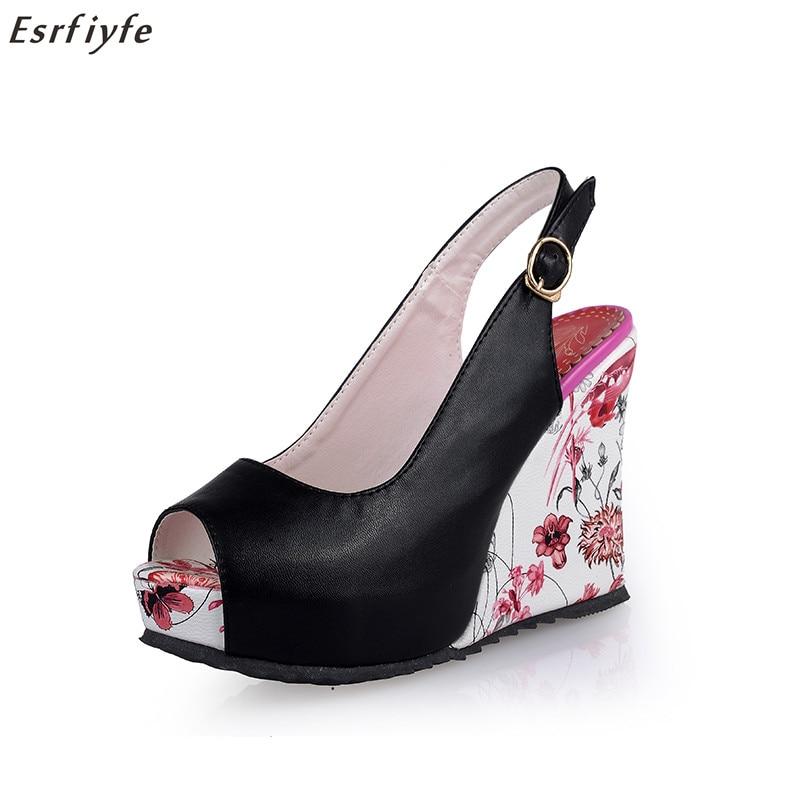 ESRFIYFE Nuevas Sandalias de Cuña Zapatos de Las Mujeres Zapatos de - Zapatos de mujer - foto 1