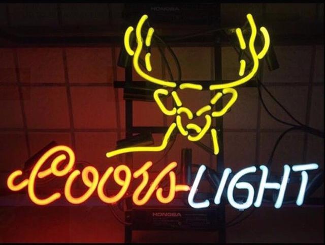 Custom Coors Light Deer Glass Neon Light Sign Beer Bar