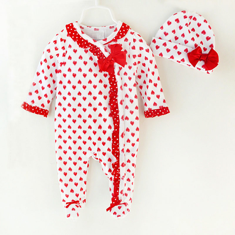 2018 New Fashion Baby Girls Bodysuits Kids Cotton Rompers Newborn Baby Clothes Good Quality Bebe Jumpsuits Princess Item 0-9M