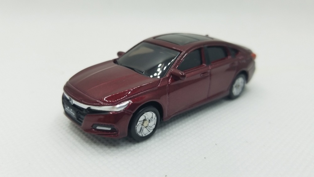 1:64 Diecast Model for Honda Accord 2018 Sport Turbo Red Alloy Toy Car Miniature Gifts стоимость