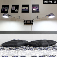 Led wall lamp minimalist bedroom bedside lamp rocker stud wall hanging creative reading lights with dimmer switch zzp FG660